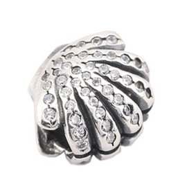 Wholesale Pandora Shell Charms - European Pandora Charms 925 Silver Beads Sea Shell Beads Fit Pandora Bracelet 925 for Big Hole Beads Collection PX0050-1B