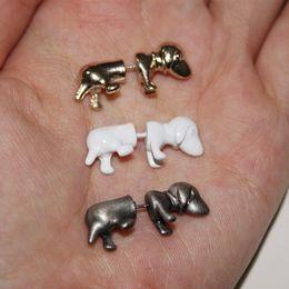 Wholesale Import Jewelry - Multicolor fluorescence dog ear clip South Korea imported jewelry cute mini Harajuku men and women LM-C372