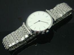 Wholesale Dropship Best - Luxury Branded Mens Quartz Watches Vintage Style Smart White Face Japan Movement Best Price Dress Men Stainless Steel Wristwatches Dropship