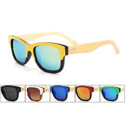 Wholesale Sunglass Wood - 2015 Fashion Original Bamboo Sunglass Rivets Wooden Sunglasses Men Women Sports Wood Sun Glasses Gafas Oculos De Sol 6Pcs Lot Free Shipping