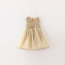 Wholesale Wholesale Childrens Party Dresses - Hug me Christmas Baby Girls Lace Tutu Dresses Childrens princess Sequins Dresses for Kids Clothing 2016 Winter Summer Party Dress 3colors