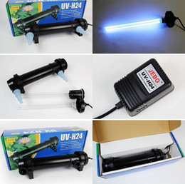 Wholesale Lighting For Fish Tank Aquarium - Wholesale-JEBO 5W~36W Wattage UV Sterilizer Lamp Light Ultraviolet Filter Clarifier Water Cleaner For Aquarium Pond Coral Koi Fish Tank