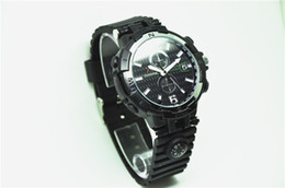 Wholesale Video Wrist Watches 32gb - H.264 1280*720P 30FPS Infrared Night Vision SPY Watch Camera Audio Video Recorder Waterproof Wrist Watch Compass Loop Recording UP TO 32GB