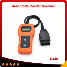Wholesale High Bus - 2015 Top selling memoscan U480 OBD2 CAN BUS & Engine Code Reader High quality free shipping
