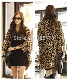 Wholesale Women Stylish Blouse - Newly 2014 Women Summer Zanzea Stylish Leopard Printed Batwing Sleeve Chiffon Long Loose Blouse Shirt