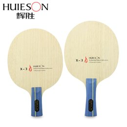 Wholesale Wholesale Table Tennis Blades - Wholesale- Huieson 7 Ply Hybrid Carbon Table Tennis Racket Blade Soft Limba Surface Big Central Candlenut Blade for Loopkilling Player X3