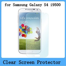 Wholesale Galaxy S4 Body - 30pcs lot Free Shipping Clear Screen Protector for Samsung Galaxy S4 SIV i9500 Front Screen Shield With Free Cloth
