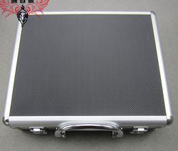 Wholesale Magic Protectors - Aluminium Flight tool case Multi-function portable magic props storage Carry Protector Range Ammo Safe box for Hand Gun Locking Pistol