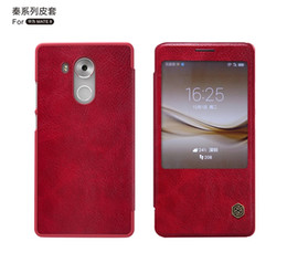 Wholesale Thin White Phone Brands - Original Nillkin Ultra Thin Qin PU Leather Flip phone Case cover for huawei mate 8 with retail package