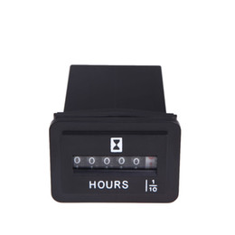 Wholesale Fuel Meter - Hot Sale DC 6V-50V Hour Meter Hourmeter Tachometer Gauge for Boat Car Truck Engine Rectangular Auto Accessories Part Replacement