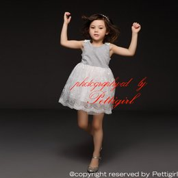 Wholesale Popular Girl Clothing - Pettigirl Retail 2016 New Popular Girl Dress Sleeveless Embroider And Mesh For Children Clothing Kids Costume Drop Shopping GD50309-24