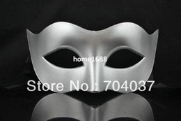 meia máscara Desconto (200 pçs / lote) Handmade Half-face Plain Cor Plástico Masquerade Partido Máscaras 5 Cores Disponíveis