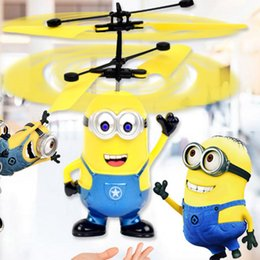 Wholesale Led Electric Wholesale - Led RC Helicopter Flying Induction LED Noctilucent Ball Quadcopter Drone Sensor Up grade infrared Induction flying Children Toys