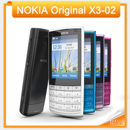 Wholesale Russian Keyboard Mobile Phone - Holiday Sale Original Nokia X3-02 3G Mobile Phone 5.0MP with Russian Keyboard 5 Colors In Stock Free Shipping
