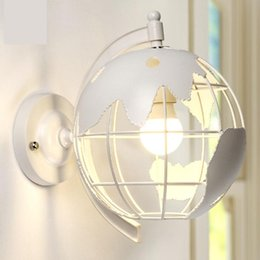 Wholesale Globe Industrial - Globe industrial wind restaurant light creative retro wall lamp bedroom bedside lamp bar staircase corridor,wrought iron lanterns