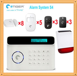 Wholesale Elegant Alarm - Free shipping DHL, Elegant&nice burglar alarm system for home 8 door sensor 5 PIR quad band 850 900 1800 1900mhz
