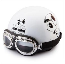 "Wholesale Helmet Ibk - Wholesale-J.11 - Free Shipping IBK ABS Portable-type Open Face Racing Motorcycle Bright Black "" Bear "" Helmet & UV Glasses"