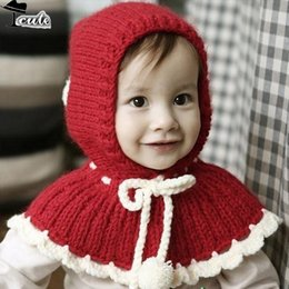 Wholesale Baby Gloves Flower - Wholesale-Free shipping ( 5pieces lot ) best selling Korean fashion ball beautiful flowers style baby hats winter cap MZ1571