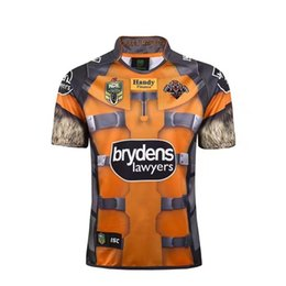 Wholesale Marvel Purple - Free Shipping ISC Wests Tigers 2017 NRL Rocket Raccoon Marvel S S Ltd Edition Rugby Shirt Best Quality West Tiger Super Rugby Jersey