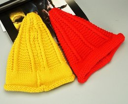 Wholesale Nipple Adjustable - Fashion Winter Knitted Hat Brand Design Thicker Woolen Beanie Caps For Women Girl Nipple Style Pure Color Mix