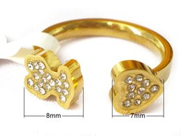 Wholesale Jewelry Bear Shape - stainless steel bear Ring with heart shape golden plated most popular good quality never fade precious style for ladies brand jewelry