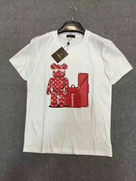 Wholesale Womens Short Sleeve Shirts - Casual Ladies O-Neck Short Sleeve red letter Print Tops Womens Dope Round Neck Blouse Pullover Graphic T-Shirt Basic foxes Shirt Tee Jumpe