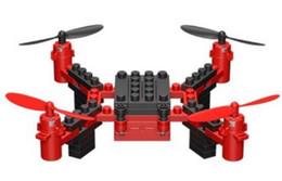El más nuevo DIY Drone Building Blocks 2.4GHz Drone Control Remoto, Build it Fly It Blue / Red 2018 Nuevo estilo 5pcs DHL desde fabricantes
