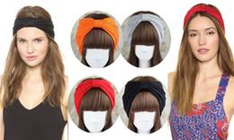 Argentina Moda mujer 2 vías de ancho venda de algodón turbante Headwrap hecho a mano nudo Hearwear 20 unids / lote envío gratis Suministro