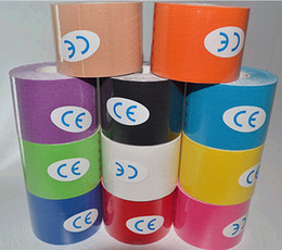 Wholesale New Synthetic Kinesio Tape Kinesiology Tape Viscose Silk Shiny for Athletes replace Original CottonS ports Star Use Kinesio tape Elastic
