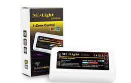 Mi luz rgbw online-MI Light Series RGBW LED Controller 2.4G inalámbrico para SMD 5050 LED Strip Tape Band Bulb MiLight Series 4 Zone Controller DC 12V 24A