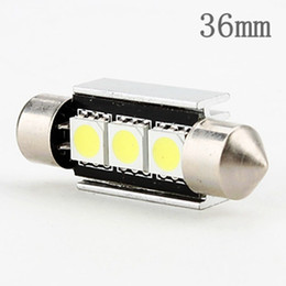 Wholesale 42mm Canbus - 36mm 39mm 42mm C3W C5W C10W DE3423 CANBUS Error-Free 3smd 5050 LED Auto Car Licence Plate Light housing Interior Dome Roof Reading Lights