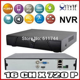 Wholesale Cms H 264 Cctv - New 16CH 720P HDMI Full CCTV NVR H.264 Network Video Recorder Support CMS ONVIF 2.0 system for IP camera Mobile Phone View