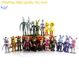 Wholesale Teddy Bear Puppets - 18pcs  Lot Fnaf Five Nights At Freddy 'S Sister Location Circus Funtime Foxy Ballora Puppet Freddy Bonnie Action Figure Kids Toy