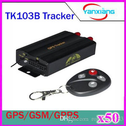 Wholesale Fuel Controls - 50pcs GPS103B+ TK103B+ GSM GPRS GPS car gps Tracker for Vehicle tracker with remote control Fuel sensor Central locking relay ZY-DH-07