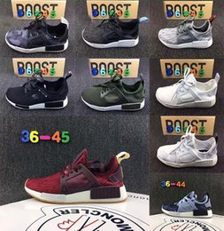 Wholesale Genuine Leather Skull - NMD XR1 Running Shoes Mastermind Japan Skull Fall Olive green Camo Glitch Black White Blue zebra Pack men women sports shoes 36-45