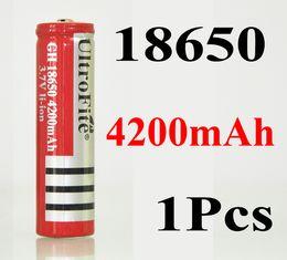 2019 3.7v chargeur lipo 1pcs rechargeable GH 18650 batterie 4200mAh 3.7V Li-ion 18650 piles pour stylo pointeur laser lampe de poche jouets rouge livraison gratuite