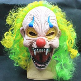 Wholesale Cheap Masquerade Party Decorations - Colorful Masquerade Masks 2015 New Party Supplies 3 Pce A Lot Clown Scary Masks Funny Party Halloween Decorations Cheap Photo Props 823-15