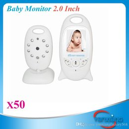 Wholesale Pc Color Lcd - Wireless Video 2.0 inch Color Baby Monitor Security Camera 2 Way Talk NightVision IR LED Temperature Monitoring 50 PCS ZY-SX-03