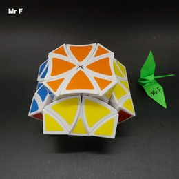 Wholesale Helicopter Shaft - Curvy Butterfly Magic Cube White Twelve Shaft Flower Petals Helicopter Puzzle Cube