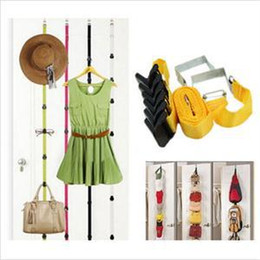 2014 New HE Delicate Over Door Straps Clothing Hooks Adjustable Hat Bag  Clothes Coat Robe Hooks Organizer EH UK