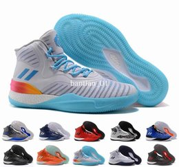 Wholesale Basketball D Rose - 2017 D Rose 8 Basketball Shoes Men Black Gold Derrick Rose 8s VIII New York Crazy Light Boost Mens Homme Sport Sneakers