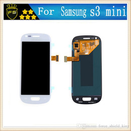 Wholesale Glass Lcd Galaxy S3 - Samsung Galaxy S3 MINI i8190 white Full New LCD Display Panel Touch Screen Digitizer Glass Assembly Replacement