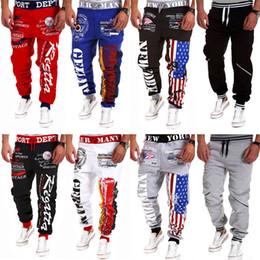 Wholesale cargo pants dance - Wholesale-New arrival 2015 casual mens pants dance hip hop sports harem cargo pants sweat joggers street trousers 20colors