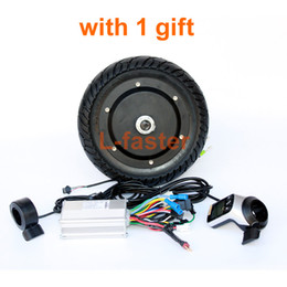"""Wholesale electric scooters brakes - 350W Electric Scooter Conversion Kit LCD Panel Thumb Throttle With EBS Thumb Brake 8"""" Brushless Hub Motor Kit More Than 30 KM H"""