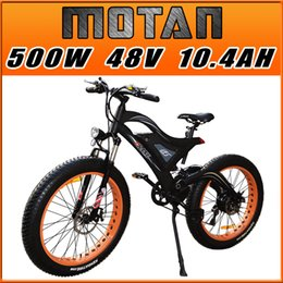Wholesale Mountain Bicycle Double Suspension - Addmotor MOTAN Electric Bicycle 500W 48V For Snow Beach All Terrain Electric Bike With Double Suspension 2017 New Design M-850 E-bike