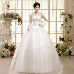Cuentas de la historia online-Shanghai Story Fashion tube top diamante clavo perla flores delgadas novia vestidos de novia de lujo europeo Personalizar tamaño está bien