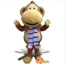 Big Mouth Monkey Mascot Costume Fancy Party Dress Traje de envío gratis desde fabricantes