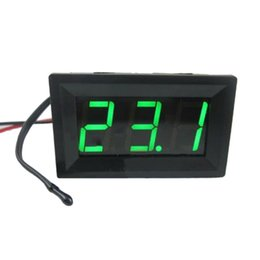 Wholesale Infrared Temperature Meter - Free Shipping Green Portable Thermometer DC12V Digital Thermometer Temp 2m meter Probe -50~110C Detector Infrared Thermometer
