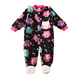Wholesale Wholesale Footed Pajamas - Wholesale-New Born Baby clothes baby boy girl footed rompers animal baby romper long sleeve cotton sleep&play clothes baby pajamas