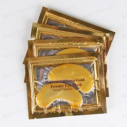 Wholesale Eye Face Mask - Wholesale-2015 New 60pcs   lot Eye Mask, Anti-Aging &Natural Crystal Collagen Gold Powder Dark Circles Eliminatesand Face Care Skin
